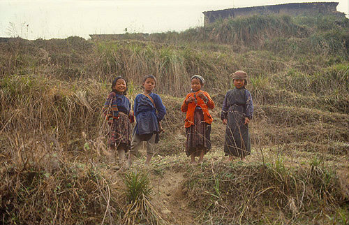 Sherpa children, Nepal