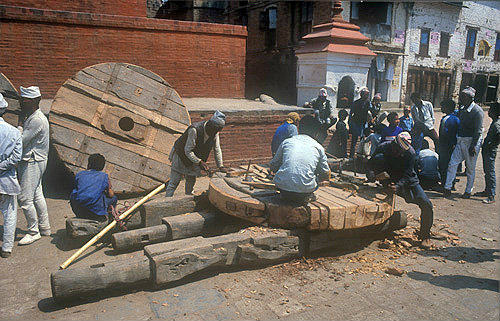 Wheelwrights at work, Nepal