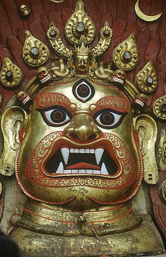 Temple mask, Nepal