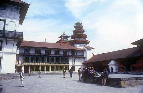 Old Royal Palace, Nasal Chowk (Coronation Courtyard), Kathmandu, Nepal