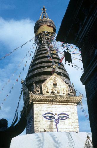 Nepal Kathmandu Swayambhunath Buddhist Stupa