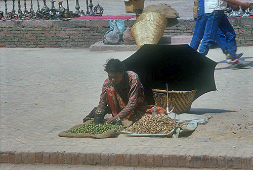 Street trader, Nepal