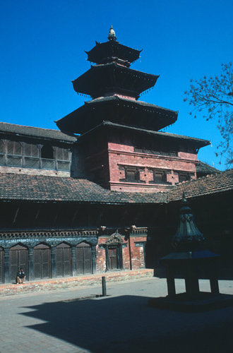 Nepal Patan Durbar Square Courtyard in the Royal Palace