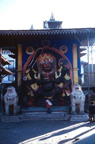 Nepal Kathmandu Durbar Square and the  Kalbhairav 17th century