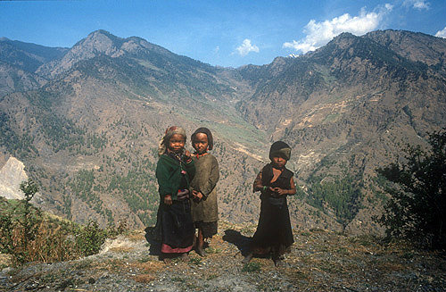 Sherpa children, Nepal