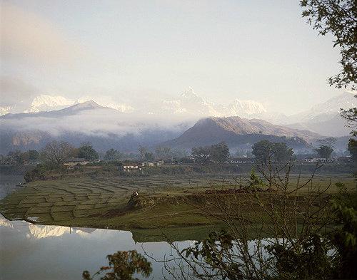 Nepal, Annapurna south and India Macchapuchare Annapurna