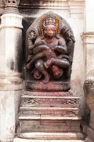 Hanuman, Hindu monkey god, Durbar Square, Lion gate, Bhaktapur, Nepal