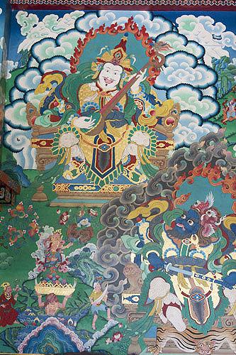 Image in interior of Kopan Tibetan Buddhist Monastery, Kathmandu, Nepal