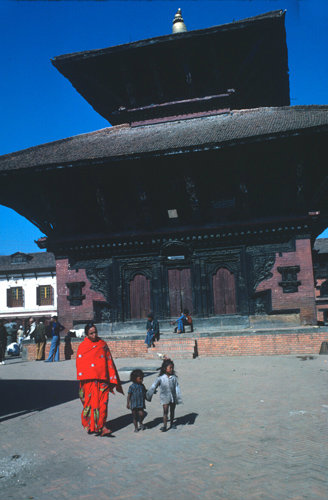 Nepal Bhadgaon Durbar Square Jagannath Temple 17th century