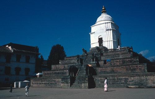 Nepal Bhadgaon Durbar Square Fasidega Temple dedicated to Shiva 17th century