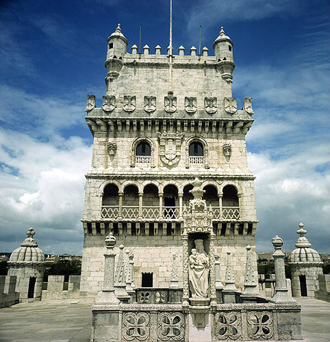 Belem Tower, south aspect, sixteenth century, Lisbon, Portugal