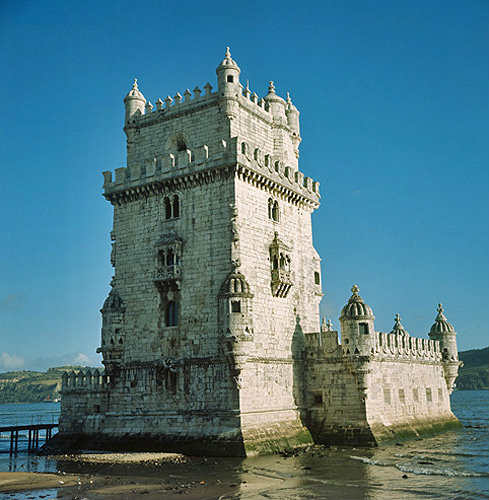 Belem Tower, sixteenth century,  north-west aspect, Lisbon, Portugal