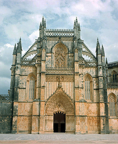 Batalha Abbey Church, begun 1386, completed circa 1517, central region, Portugal