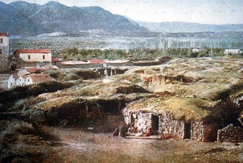 Jericho, view of houses, circa 1908,  Palestine