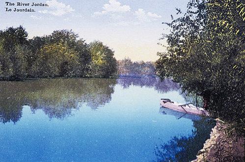 Palestine, the River Jordan circa 1906