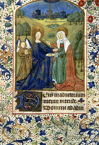 South Africa, National Library of South Africa, Capetown, the Visitation, from a 14th century Book of Hours