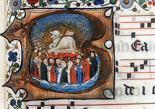 Lamb of God, fourteenth century manuscript, South African Library, Capetown, South Africa
