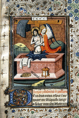 South Africa, National Library of South Africa, Capetown, the Resurrection, from a 14th century Book of Hours