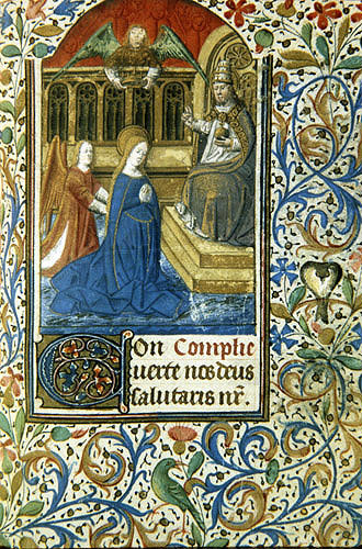 The Presentation of Jesus, a 14th century manuscript from a Book of Hours, National Library of South Africa,  Capetown
