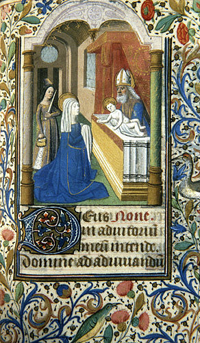 South Africa, National Library of South Africa, Capetown, the Presentation, 14th century manuscript from a Book of Hours