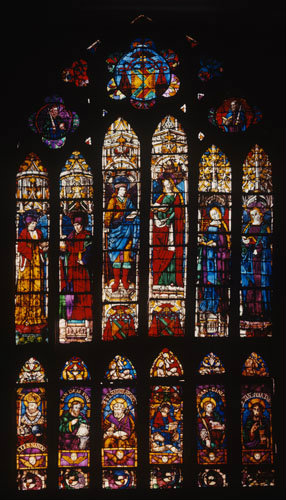 South nave clerestory window 7, fifteenth century, Toledo Cathedral, Spain