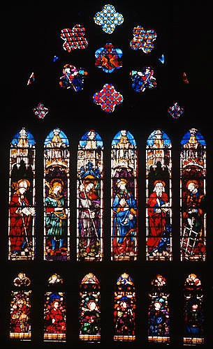 South nave clerestory window 5, early fifteenth century, Toledo Cathedral, Spain