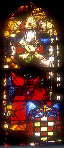 Bishop, sixteenth century panel by Juan de la Cuesta, Toledo Cathedral, Spain