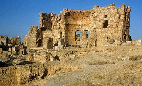Syria, Rasafa, ruins of the baptistry
