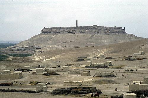 Syria, Qalaat Jabaar showing minaret