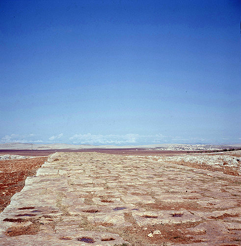 Roman road built by Trajan which runs between Aleppo and Antioch, Syria