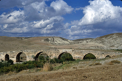 Syria, 30 miles north west of Cyrrhus, Roman Bridge over the river Afrin