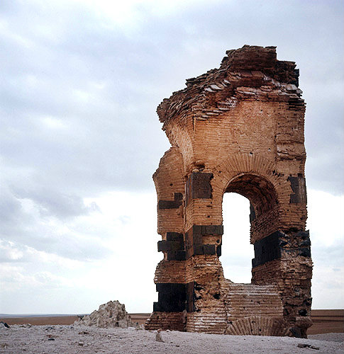 Syria, Qasr Ibn Wardan remains of a military establishment built between 561-564 AD by Justinian