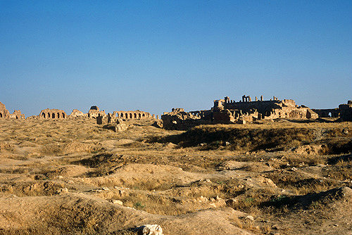 Syria, ruins of Rasafa,  showing the Basilica of St Sergius