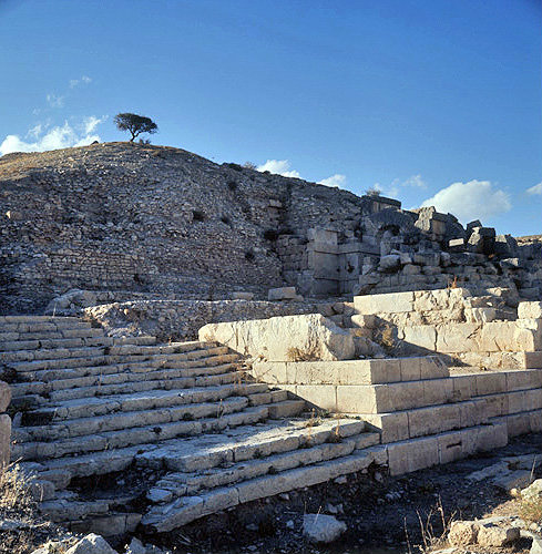 Syria, Cyrrhus, flight of steps leading to the Acropolis