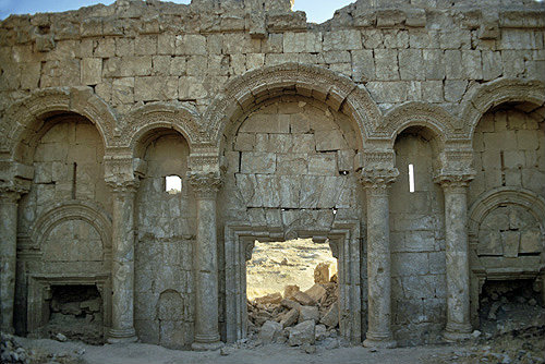 Syria, north gate of white gypsum stone, one of the main entrances to Rasafa