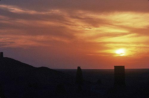 General view at sunset, Palmyra, Syria