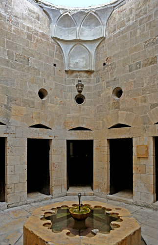 Aleppo, Syria,14th century Maristan Arghun al-Kamili (founded as asylum by Mamluk governor Arghun al-Kamili), central courtyard