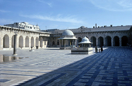 Syria, Aleppo, courtyard of the Great Mosque 11th-13th century