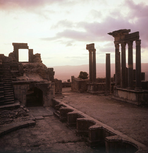 Tunisia Thugga, also known as Dougga, theatre of Antoninus Pius, built 166-169 AD