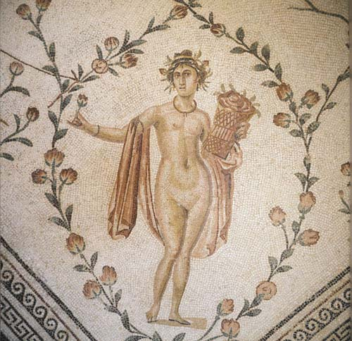 Spring, 2nd century mosaic from Chebba, Tunisia