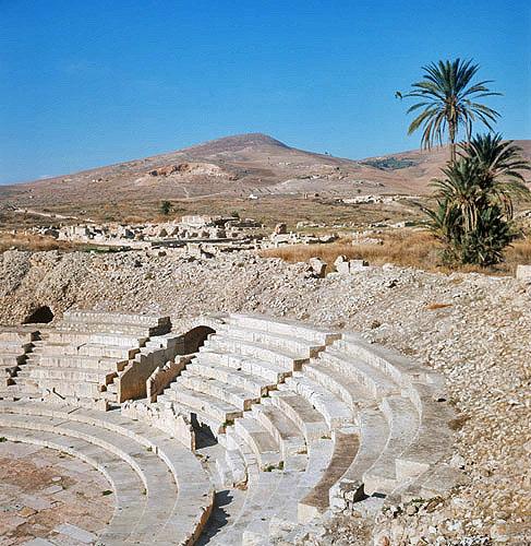 Small Roman theatre, Bulla Regia, Tunisia