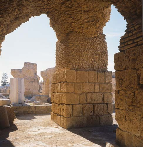 Thermal baths of Antoninus Pius, 2nd century AD, Carthage, Tunisia