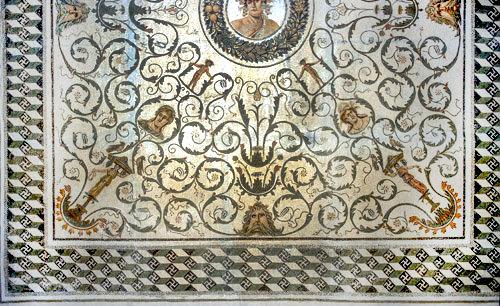 Dionysus in centre, the four seasons, Oceanus,  El Djem, Tunisia