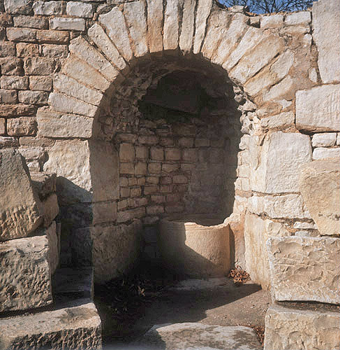 Holy well in first century basilica in Maktar (ancient Mactaris) Tunisia