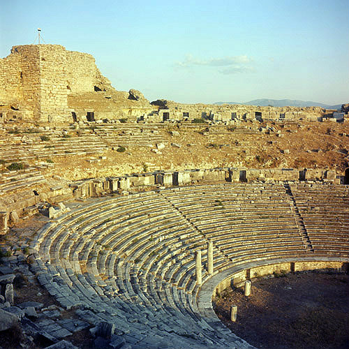 Theatre dating from Hellenistic period, Miletus, Turkey