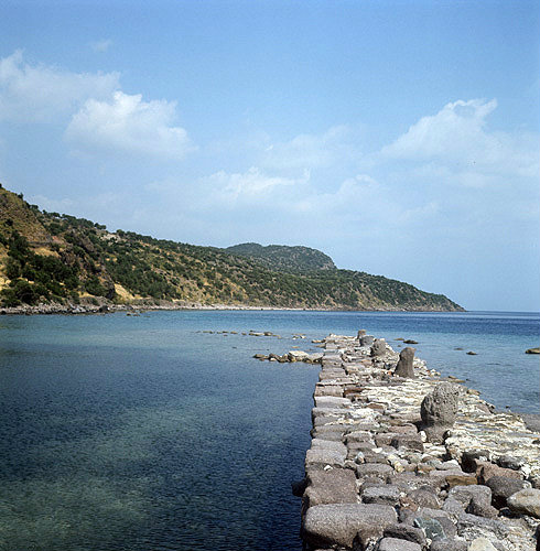 Ancient harbour mole from which St Paul sailed on his third journey, Assos, Turkey