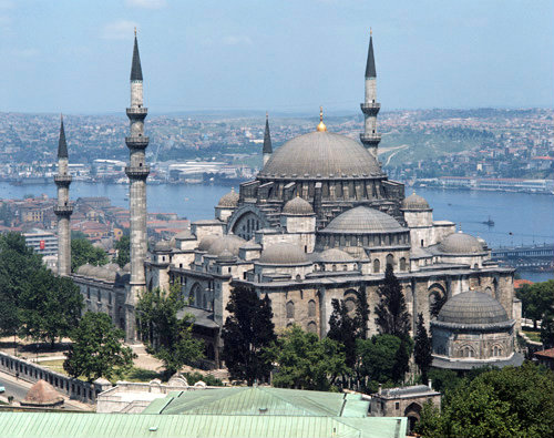 Turkey, Istanbul, Suleymaniye Mosque, built by Sinan, 16th ...