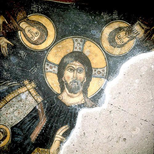 Turkey, near Nigde, the Monastery Church of Eski Gumus, conch of apse mural o...