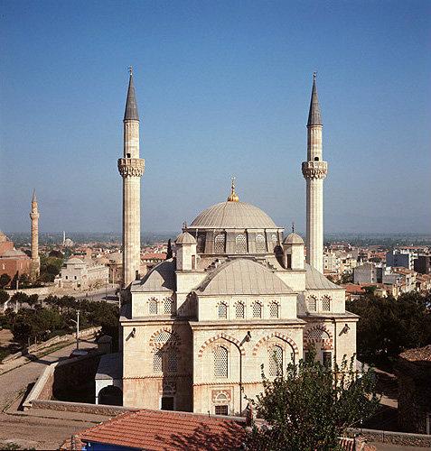 Turkey, Manisa, Muradiye Camii, designed by Mimar Sinan ...