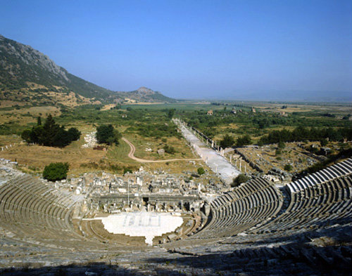 Turkey Ephesus the Theatre and Arcadian Way